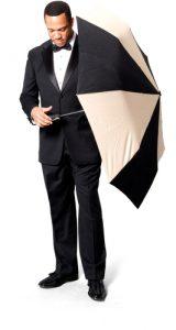 Pastor with umbrella