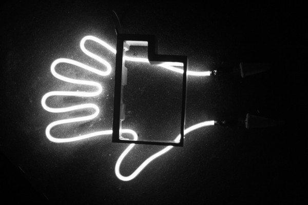 neon hand