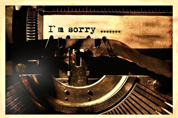 typewriten sorry