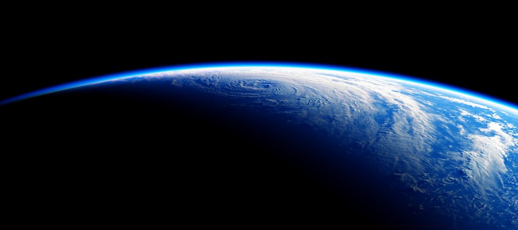 round earth shot from space